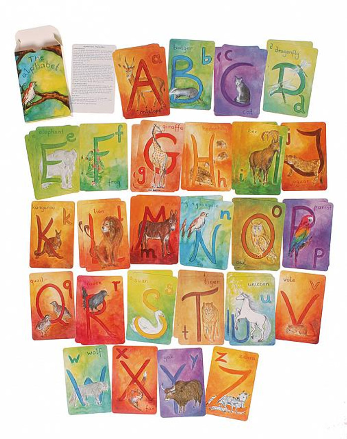 alphabet watercolour cards
