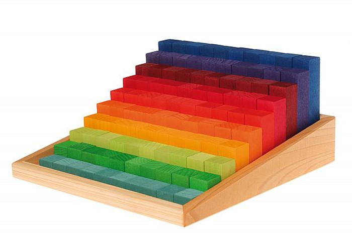 stepped counting blocks