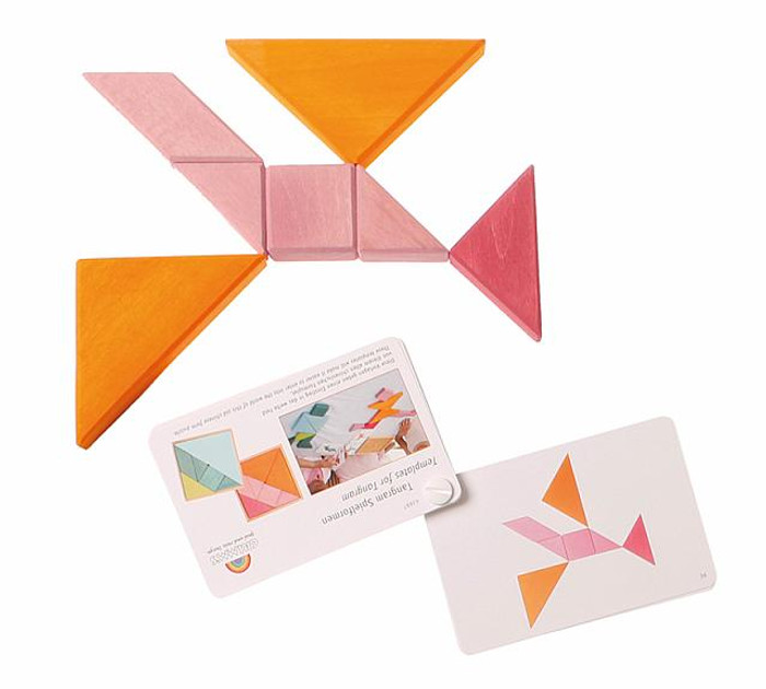 tangram set, orange-pink