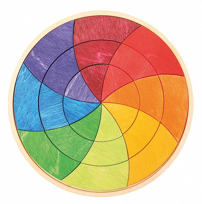 Goethe's colour circle puzzle