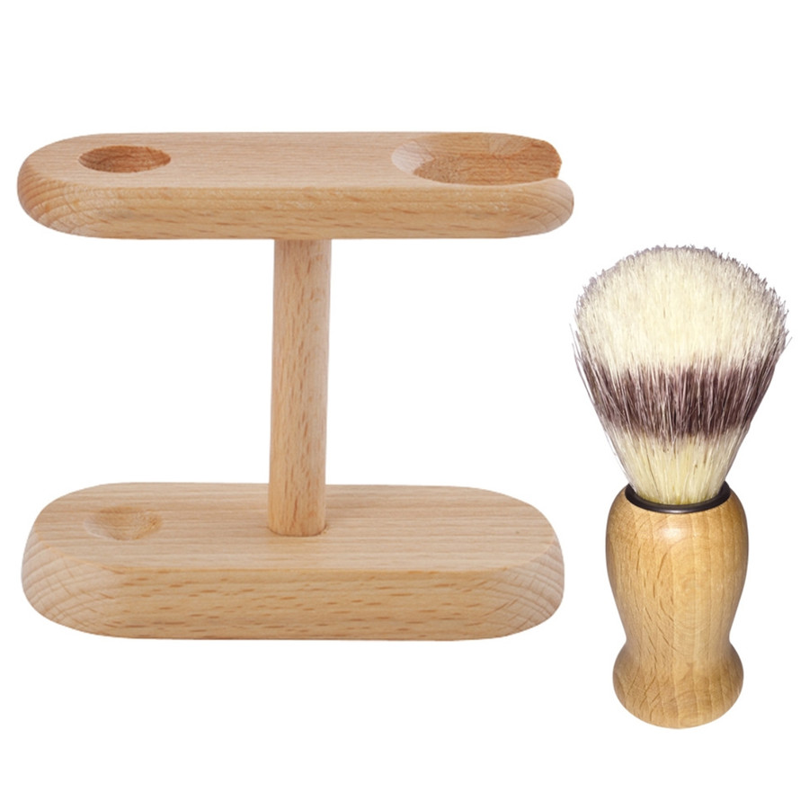 Simple wooden shaveset
