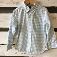 Baby Gap White & Baby Blue Plaid Shirt