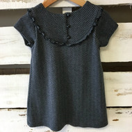 Baby Gap Grey & Black Chevron Knit Dress