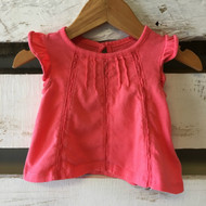 Baby Gap Coral Lace Accent Top