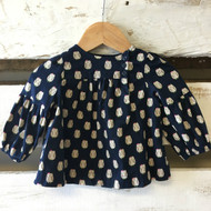 Baby Gap Navy Blue Owl Top