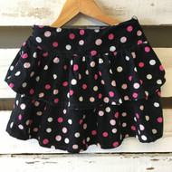 Gymboree Black & Pink Corduroy Polka Dot Skirt