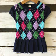 Baby Gap Navy Argyle Sweater Dress