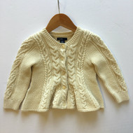 New! Baby Gap Ivory Cable Knit Cardigan