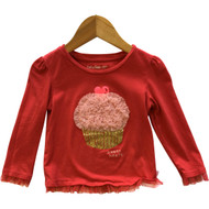 Baby Gap Red Cupcake Top