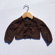 Baby Gap Brown Ruffle Cardigan