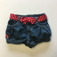 Gymboree Denim Shorts with Red Polka Dot Belt
