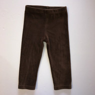 Gymboree Dark Brown Velour Leggings