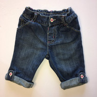 Gymboree Daisy Button Rolled Cuff Jeans