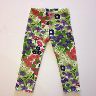 Gymboree Green & Purple Floral Leggings
