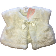 New! Gymboree Ivory Faux Fur Vest