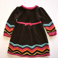 Gymboree Brown with Multi Color Stripe Dress