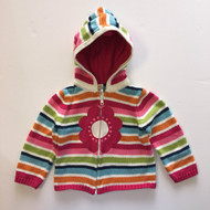 Gymboree Bright Striped Hooded Daisy Cardigan