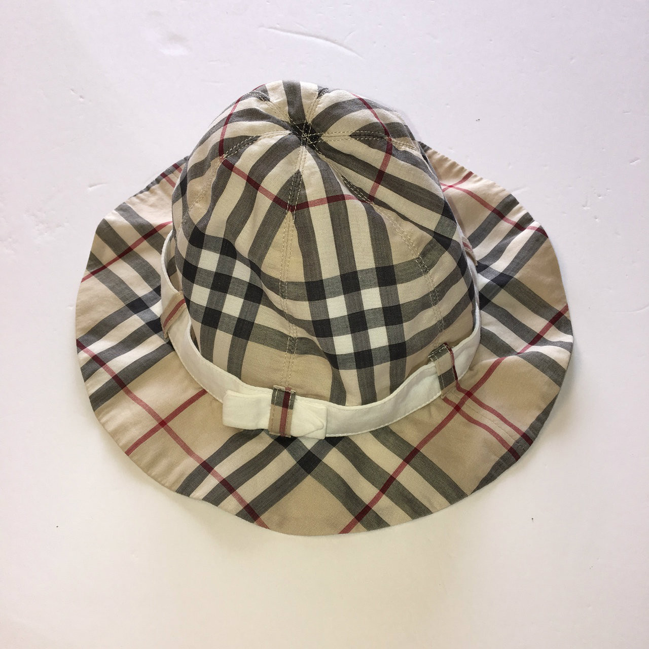 ... Burberry Classic Plaid Hat with Chin Strap. Image 1 5eea28e6004