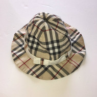 Burberry Classic Plaid Hat with Chin Strap
