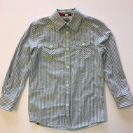 191 Unlimited Blue & White Striped Oxford Shirt