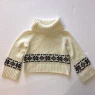Baby Gap Ivory with Navy Snowflakes Turtelneck