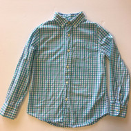 CrewCuts Blue & Turquoise Gingham Button Up Shirt