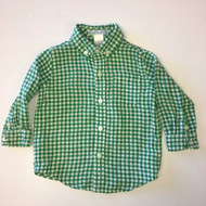 Janie & Jack Green and White Checked Shirt