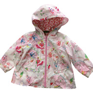 Oilily Lightweight Multi Color Fun Print Hooded Jacket