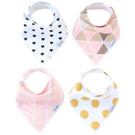 Copper Pearl Blush Bandana Bib Set