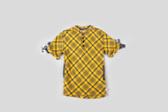 Kinderkind Kids Gold Flannel Oversized Henley Dress