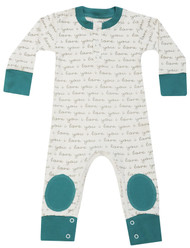 Cat & Dogma Teal 'I Love You' Playsuit