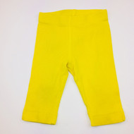 Hanna Andersson Yellow Ribbed Capris