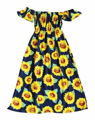 Bailey's Blossoms  Sunflower Cold Shoulder Maxi Dress