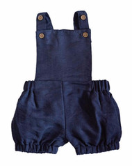 Bailey's Blossoms Joseph Suspender Romper-Navy