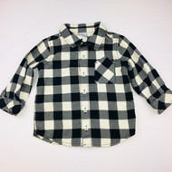 Hanna Andersson Black & Ivory Checked Flannel Shirt