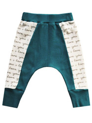 Cat & Dogma Teal I Love You Harlem Pants