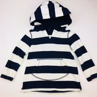 Baby Gap Navy & White Wide Stripe Hoodie Top
