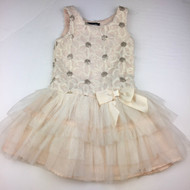 Zunie Special Occasion Champagne Daisy Tulle Dress