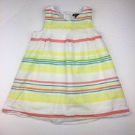 Baby Gap Yellow, Green & White Striped Sun Dress