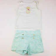 Janie & Jack Pineapple Two Piece Set