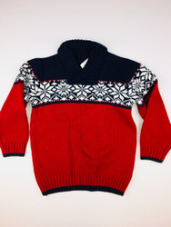 Gymboree Red & Navy Snowflake Turtleneck Sweater