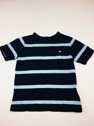 Baby Gap Navy & Teal Stripe Pocket Tee Shirt