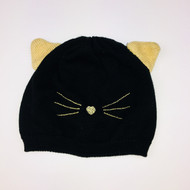 Gymboree Black& Gold Kitty Hat