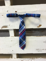 Andy & Evan Boutique Designer Blue Plaid Tie