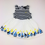 Nautica White & Navy Sailboat Dress