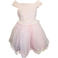 Popatu Pink & Pearl Bodice with Tulle Skirt Dress