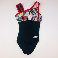 Aerials Super Hero Navy & Red Leotard