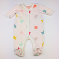 Baby Gap Ivory with Pastel Stars Footed Sleeper