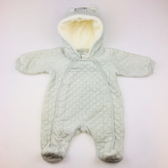 Nordstrom Baby Grey Quilted Sleeper