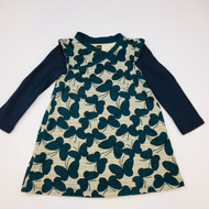 Tea Collection Hunter & Navy Butterfly Dress